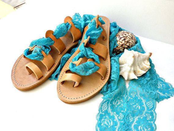 Greek leather lace up sandals,Turquoise sandals, Bridal shoes, Gladiator sandals, Wedding flats,Turquoise lace sandals,Bridesmaids sandals