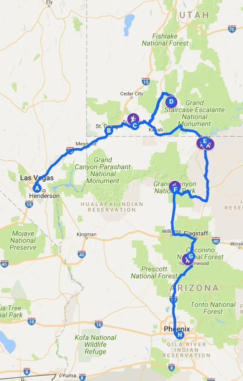 The Perfect 5-Day Itinerary For Zion, Bryce, Grand Canyon, and Antelope Canyon