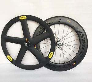 Carbon Track Bike Wheels Front 5 Spoke Wheel Rear 88mm Clincher road bike Wheel • carbon bike base • Tictail