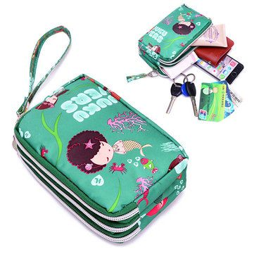 Women Nylon Phone Bag Clutch Bag Daily Capacity Wallet Coin Card Key Holder Purse On Sale - NewChic Mobile.