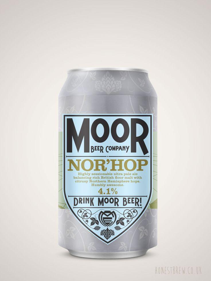 ANor'Hop Pale Ale 4.1%brewed by Moor in Sumerset UK. Buy craft beer online from HonestBrew.