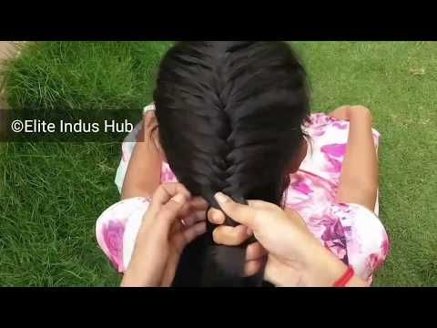 Trendy hairstyle for girls | French Fishtail Braid - YouTube