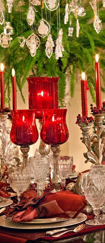 Beautiful Christmas Table Tablescapes Table Settings
