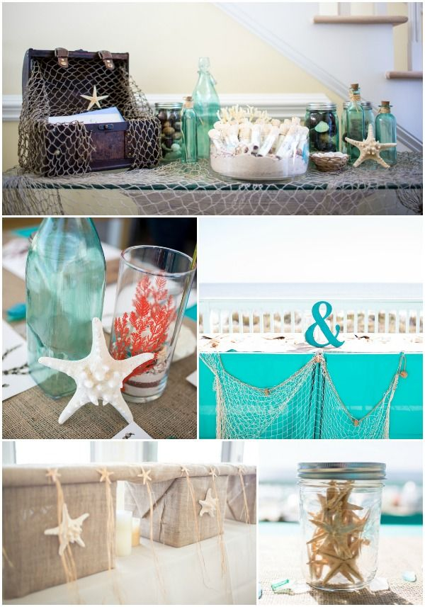 Beach Wedding Theme, Coral & Starfish Details {Shandi Wallace Photography} - www.mazelmoments.com/blog/16858/diy-coral-turquoise-beach-wedding/ #BeachWedding