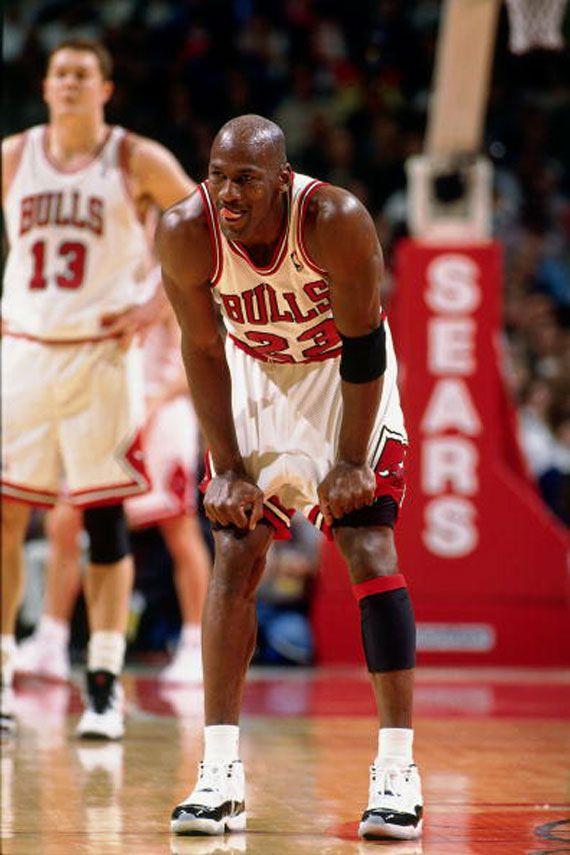 Michael Jordan Wearing First Jordan Shoes Ever
