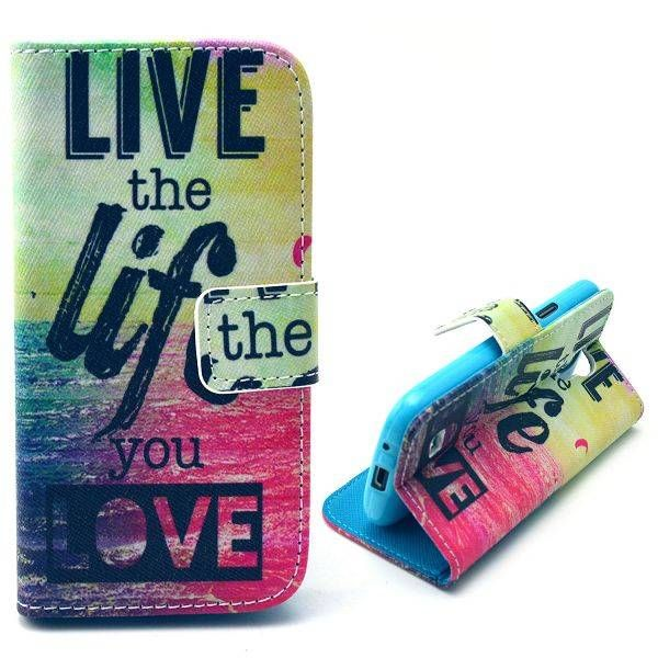 Life quote bookcase hoesje voor Samsung Galaxy S4 mini