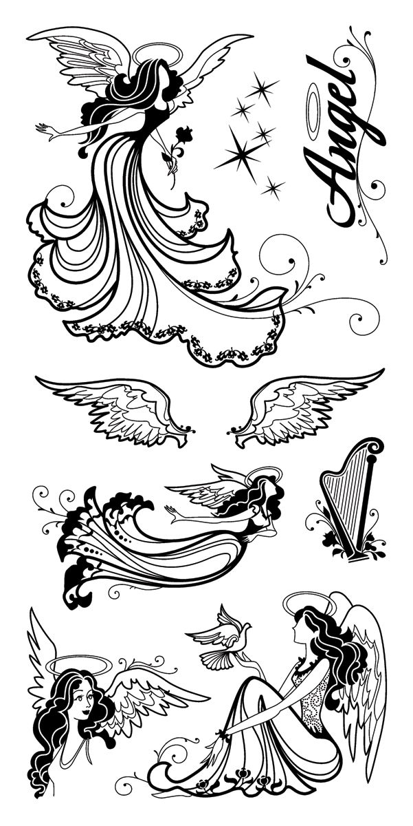 Inkadinkado Clear Stamps 4 Inch X 8 Inch Sheet-Angels