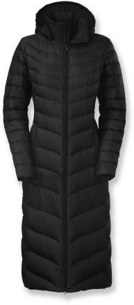 The North Face Triple C Down Jacket - it's 47 inches long. I'm only 63, so that should cover most of me