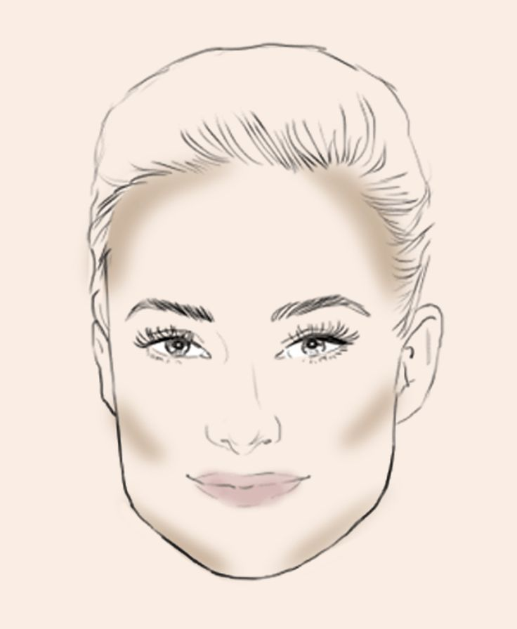 Oval Face Shape Apply your contouring powder along the sides of your forehead, and below the cheekbones. Blending around your natural hairline is key when contouring the sides of your forehead.