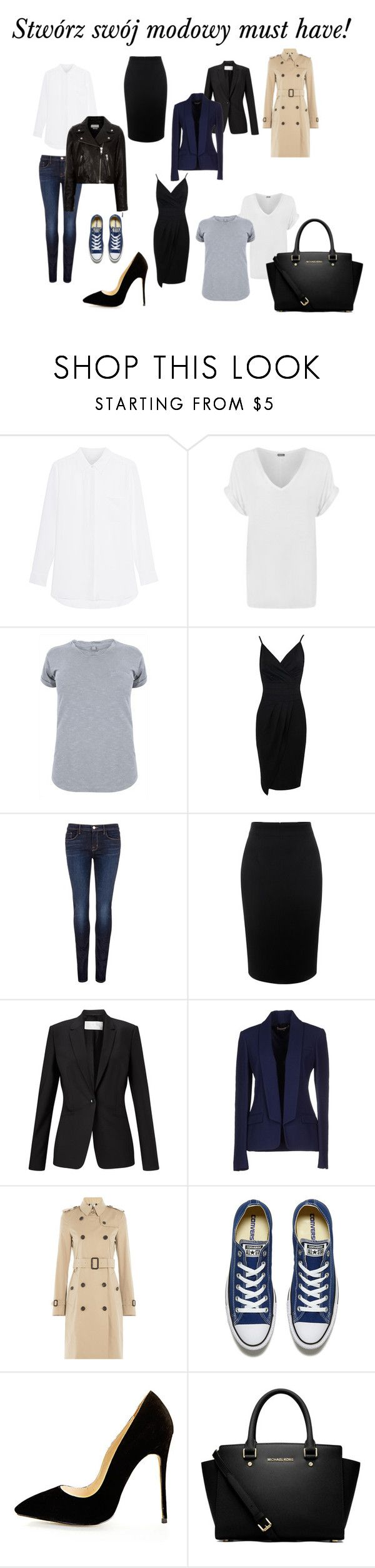 """Swórz ze mną swój modowy must have!"" by marta-waluk on Polyvore featuring moda, WearAll, J Brand, Alexander McQueen, HUGO, Michael Kors, Burberry, Converse, MICHAEL Michael Kors i Étoile Isabel Marant"
