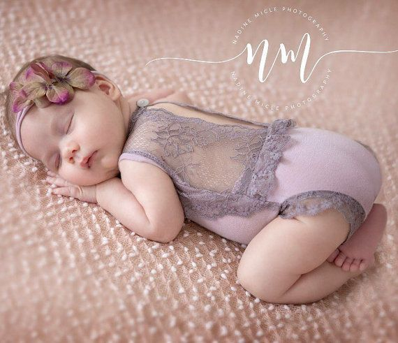 Cod 247Newborn Lace Romper, baby bloomer,baby , baby tie back, baby jumper, baby girl, romper, newborn clothing, photography prop