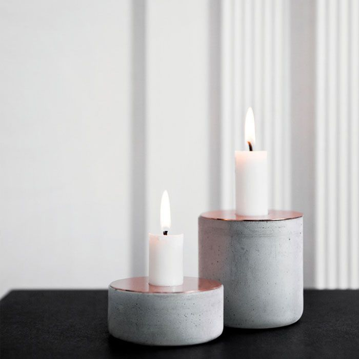 Designed by Andreas Engesvik for Menu, the Chunk of Concrete Candleholder is a…