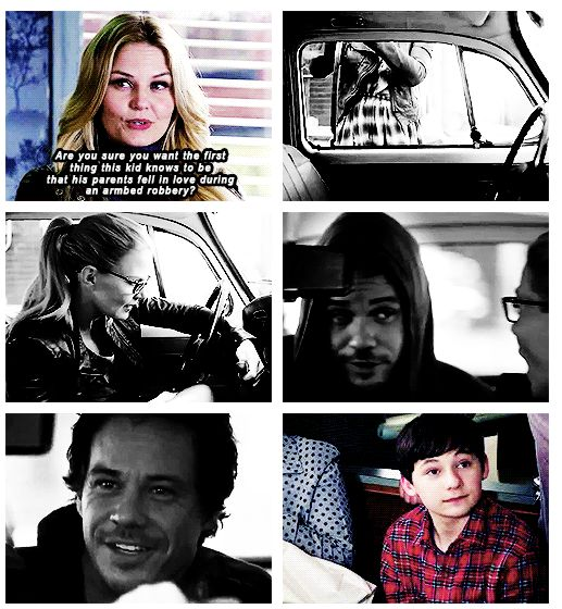 """""""Are you sure you want the first thing  this kid knows to be that his parents fell in love during an armed robbery ?"""" Emma"""
