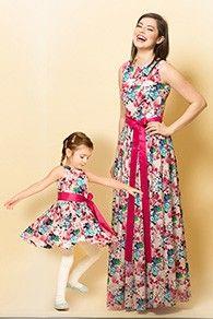 Set Rochii Mama-Fiica Flora