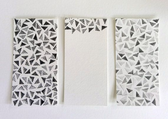 valentines for men  black and white triangles / note by ForgetCake
