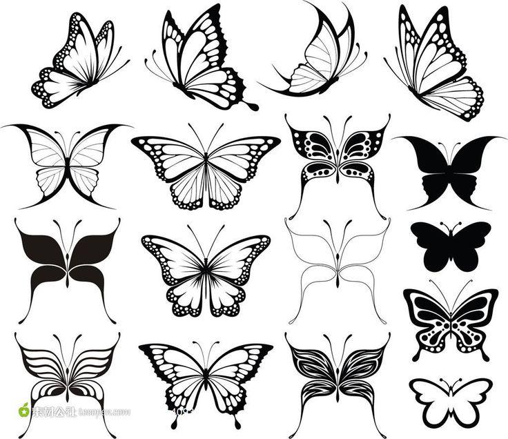24 best doodle butterfly outline tattoos images on pinterest butterfly outline butterfly. Black Bedroom Furniture Sets. Home Design Ideas