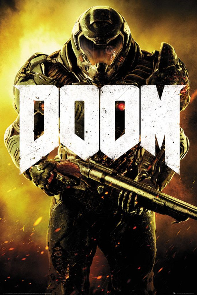 Doom Marine - Official Poster. Official Merchandise. Size: 61cm x 91.5cm. FREE SHIPPING