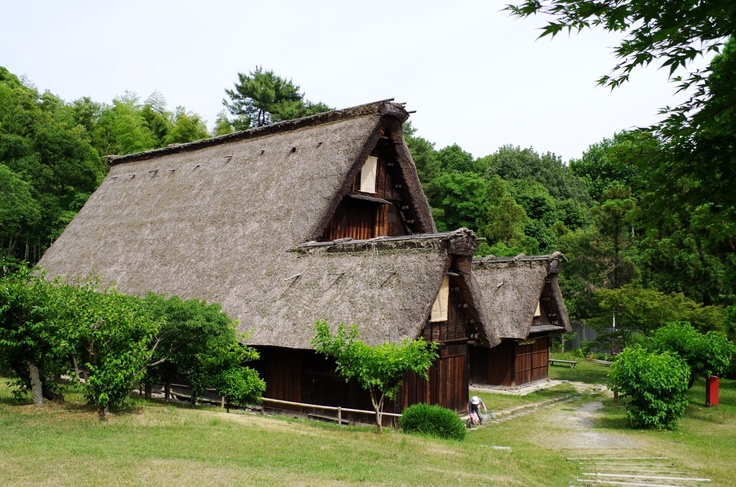 """Gassho"" style farm house from Shirakawa, Gifu"