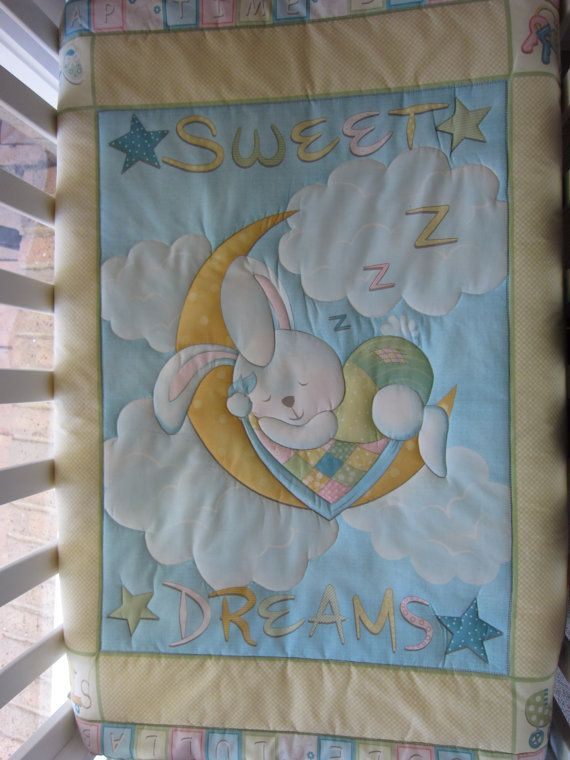 Sweet dreams baby quilt by MKcollectionMK on Etsy