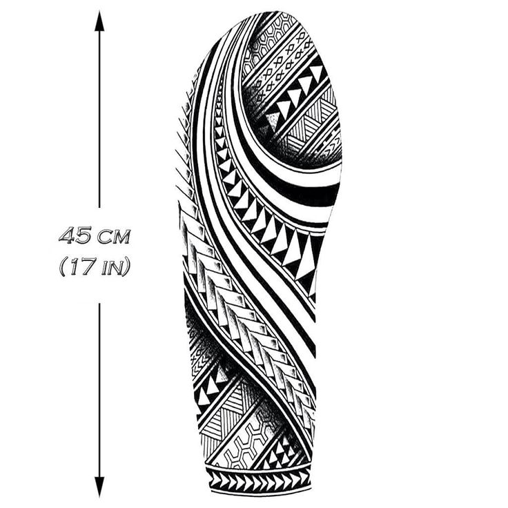 Polynesian Sleeve 2 Temporary Tattoo