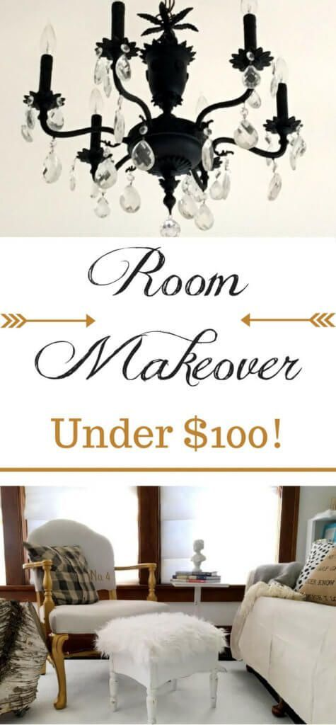 """With only $100 and a little DIY, any room really CAN be completely transformed!! Click to see the eyesore that was the """"before"""" - and see how to transform a room with *only* $100! It CAN be done!"""