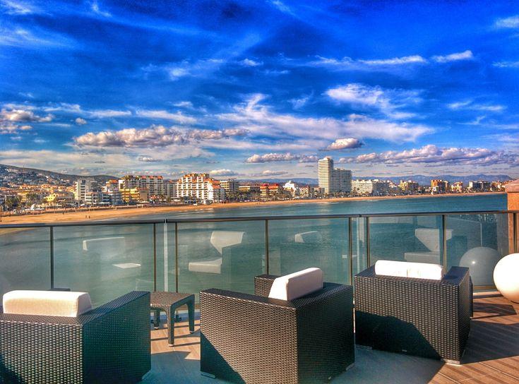 hoteles de playa Terraza en Hotel Boutique La Mar en Peñíscola, Castellón