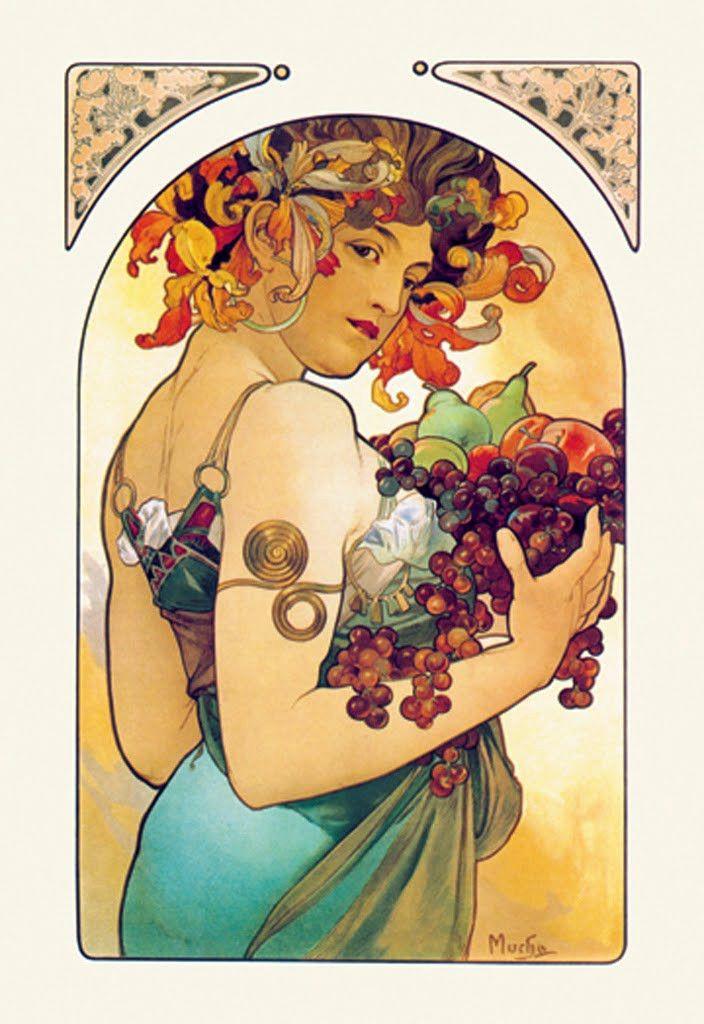Fruit, by Alphonse Mucha