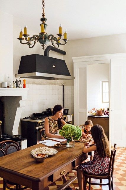 Kitchen Table. interiors of the home of food writer Mimi Thorisson - which she shares with husband, 7 children and 9 dogs. Interior design inspiration from real homes on House & Garden.