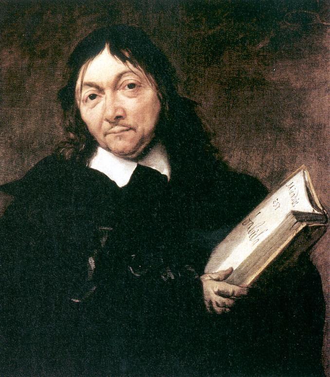 """Descartes, Centre, 1596-1650. Descartes' ouders behoorden tot de bourgeoisie, de rijke bovenlaag van de derde stand. Hij was filosoof en wiskundige. Iedereen kijkt anders naar de wereld en daarom is onderscheidt tussen waarheid en illusie moeilijk te maken, vond hij. Het enige waarvan hij zeker was was dát hij twijfelde. Zijn uitspraak """"cogito ergo sum"""" (= ik denk, dus ik ben) is heel bekend. Hij ging op zoek naar bewijzen. Twijfel is het startpunt geworden van het wetenschappelijk denken."""
