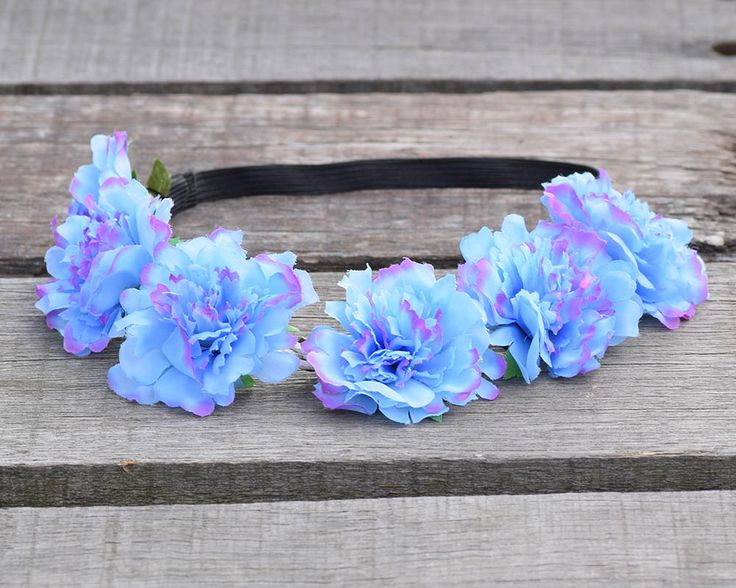 2016 Girl Child Women Handmade Gradient Carnation Flower Tiara Wreath Crown Garland Halo Festival Hair Headband Headpiece Floral