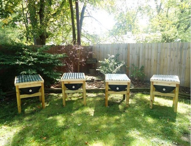 Build a 55 Gallon Bee Hive | 16 Bee Hive Plans - Build a safe place to save the bees! at http://pioneersettler.com/best-bee-hive-plans