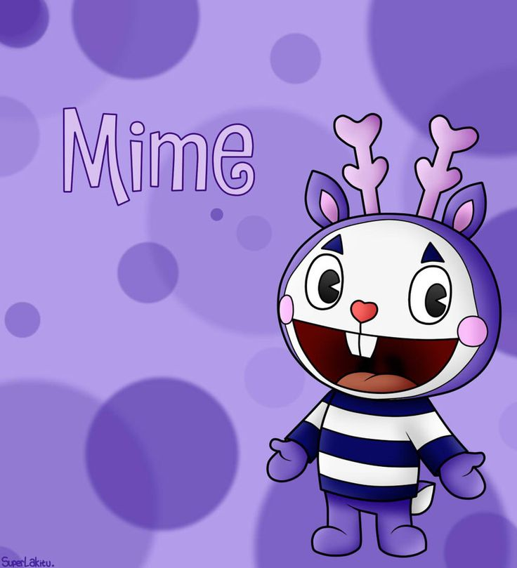 This is Mime the deer. He doesn't say anything and he doesn't actually have anything in his house. It's all invisible.
