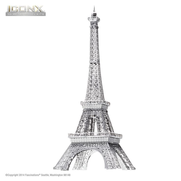 Fascinations Metal Earth 3D ICONX Laser Cut Model Eiffel Tower – Metal Earth Models
