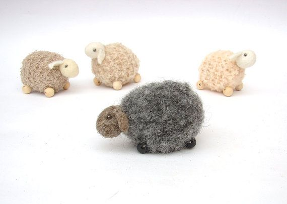 little knitted Amigurumi wool sheep ornaments Available!    note - after a holiday lamb and other toys will move to shop www.lafiabarussa.etsy.com    this