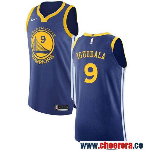 Golden State Warriors  9 Andre Iguodala Royal Blue Nike NBA Road Men s  Stitched Swingman Jersey 5f6119f80