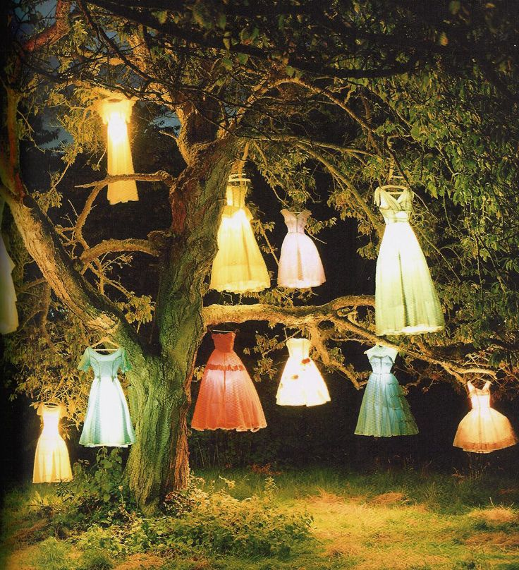 "Can you fall in love with a coffee table book?  This is ""The Dress Lamp Tree"" by photographer Tim Walker, best known for his shoots for British Vogue. His new coffee table book, Pictures, is for sale on Amazon for $164.00. Hard to find. The calendar is cheaper."