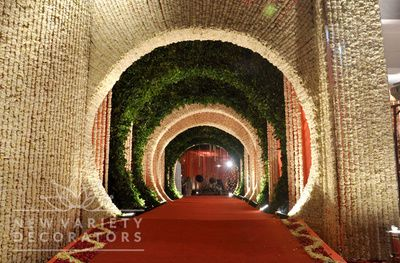 tunnel flower decor , tunnel entrance , flower entrance, grand entrance , unique…