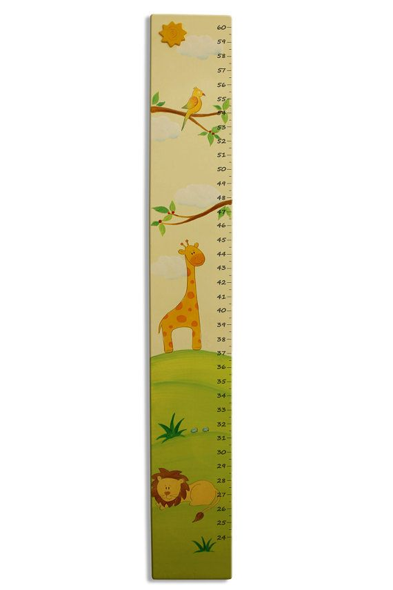 Jungle Animals Growth Chart Zoo animals by SharonGoldstein4kids