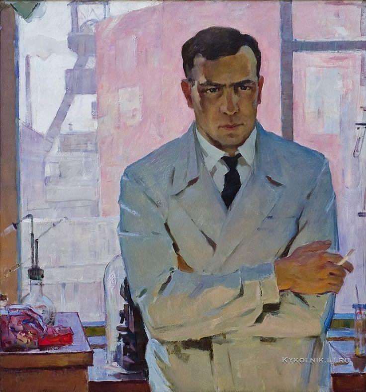 Фарит Мухайлов - «Портрет инженера А.К. Чудинова», 1963