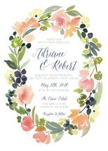 Watercolor Wreath Save The Date Cards by Yao Cheng | Minted