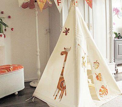 Moozle handmade and bespoke teepees on Kids Interiors #kidsteepeetent #moozleteepee #kidsdecor #playtent #tipi #indoorplaytent  #kidsteepeetent