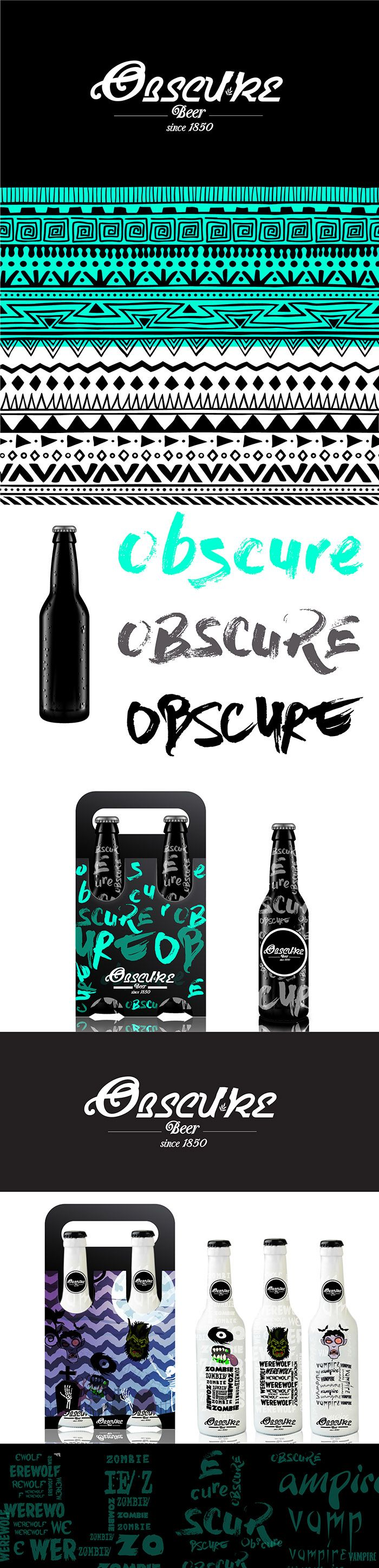 New Obscure beer by Jerson Salazar. Source: Package Inspiration #SFields99…