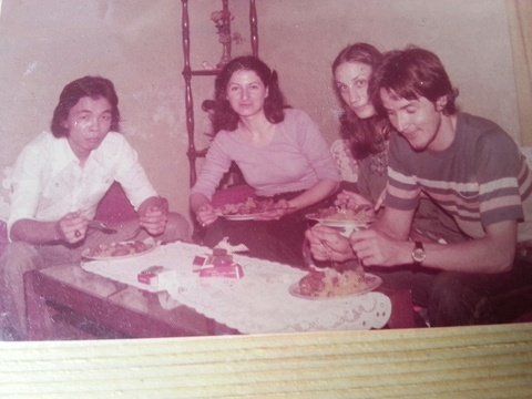 Wun Fie, Pam, Willa and Putra in the old days