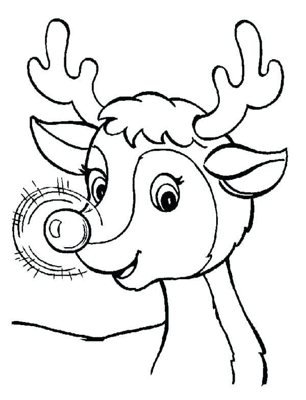 Printable Reindeer Face Head Template