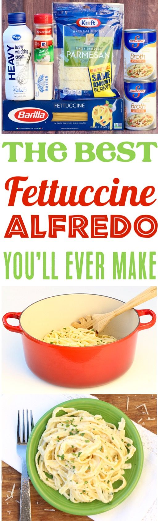 Fettucini Alfredo Recipe Easy Olive Garden Copycat One Pot Dinner!  The rich and delicious homemade sauce sends it over the top... add it to your menu this week!