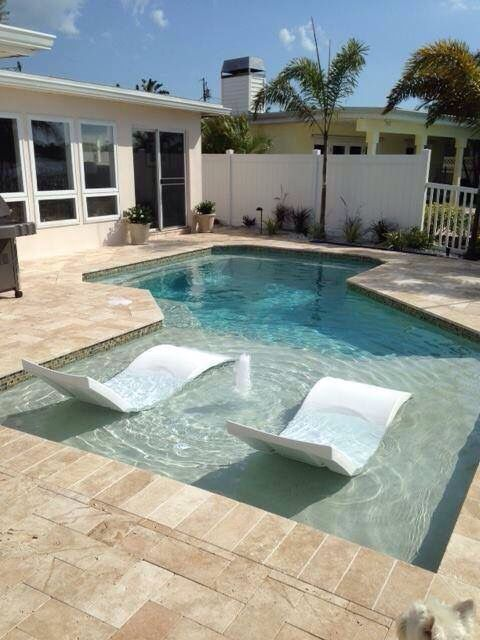 Ledge loungers on tanning ledge my designs pinterest for Pool design with tanning ledge