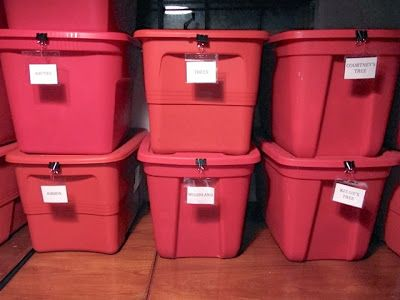 Effective labels for storage totes - Like this so much better than masking tape!