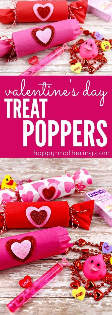 Cute Kids Valentine's Day Treat Poppers Craft
