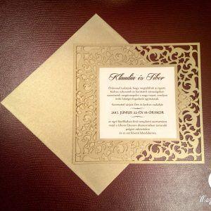 Exkluzív négyzet alakú lézervágott esküvői meghívó  #lézervágott #esküvői #meghívó #esküvőimeghívó #lasercutting #wedding #weddinginvitations #exclusive