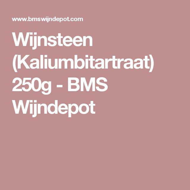 Wijnsteen (Kaliumbitartraat) 250g - BMS Wijndepot